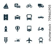 shipment icons set. collection... | Shutterstock .eps vector #709661905