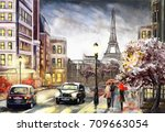 Oil Painting On Canvas  Street...