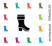 isolated boots icon. wellies... | Shutterstock .eps vector #709663135