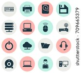 device icons set. collection of ... | Shutterstock .eps vector #709665379