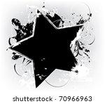 grunge black star | Shutterstock .eps vector #70966963