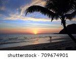 sunset. thailand. | Shutterstock . vector #709674901