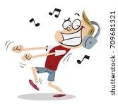 boy dancing | Shutterstock .eps vector #709681321