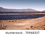 view of salton sea  a large... | Shutterstock . vector #70968337