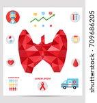 thyroid infographics. medical... | Shutterstock .eps vector #709686205