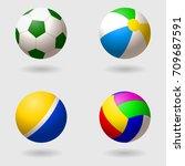 set of children's balls for... | Shutterstock .eps vector #709687591