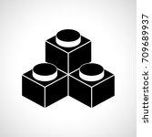 constructor  building block ... | Shutterstock .eps vector #709689937