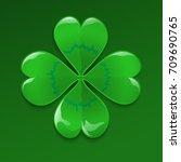 clover for luck  four leaved | Shutterstock .eps vector #709690765