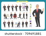 people character business set... | Shutterstock .eps vector #709691881