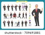 people character business set... | Shutterstock .eps vector #709691881