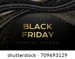 black friday luxury poster.... | Shutterstock .eps vector #709693129