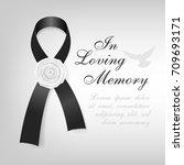 funeral card. black awareness... | Shutterstock .eps vector #709693171