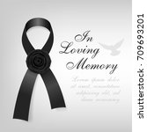 funeral card. black awareness... | Shutterstock .eps vector #709693201