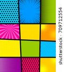 pop art comics book magazine... | Shutterstock .eps vector #709712554