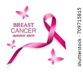 breast cancer awareness pink... | Shutterstock .eps vector #709715815