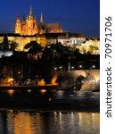 Evening View Of  Prague Castle...