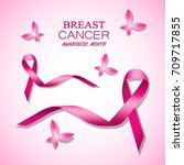 breast cancer awareness pink... | Shutterstock .eps vector #709717855