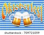 oktoberfest beer festival... | Shutterstock .eps vector #709721059