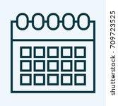 calendar line icon | Shutterstock .eps vector #709723525