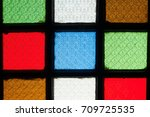 color glass windows for... | Shutterstock . vector #709725535