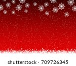 christmas and new year red... | Shutterstock .eps vector #709726345