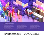 isometric flat 3d isolated... | Shutterstock .eps vector #709728361