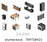 isometric flat 3d isolated... | Shutterstock .eps vector #709728421