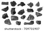 Natural wood charcoal Isolated on white background, traditional charcoal or hard wood charcoal.