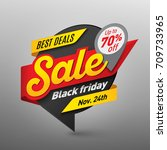 black friday sale banner... | Shutterstock .eps vector #709733965