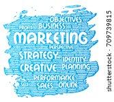 conceptual development business ...   Shutterstock . vector #709739815
