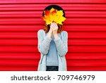 Fashion Autumn Portrait Woman...
