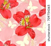 beautiful seamless background... | Shutterstock .eps vector #709754365