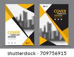 yellow color scheme with city... | Shutterstock .eps vector #709756915