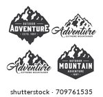 mountain logo | Shutterstock .eps vector #709761535