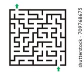 vector labyrinth. maze... | Shutterstock .eps vector #709768675