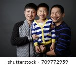asian family character. shot in ... | Shutterstock . vector #709772959