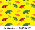 american frog set wallpaper | Shutterstock .eps vector #709784569