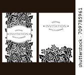 vintage delicate invitation... | Shutterstock .eps vector #709785961