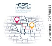 gps navigation concept | Shutterstock .eps vector #709788595
