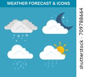 weather forecast concept | Shutterstock .eps vector #709788664