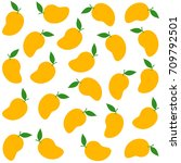 mango pattern seamless... | Shutterstock .eps vector #709792501