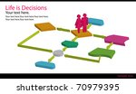 life flow charts | Shutterstock . vector #70979395