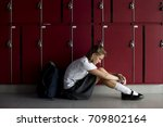 young student torturing of... | Shutterstock . vector #709802164
