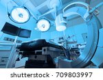 equipment and medical devices... | Shutterstock . vector #709803997