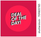 deal of the day in flat colours ... | Shutterstock .eps vector #709805785