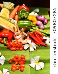 thai ingredient | Shutterstock . vector #709807285