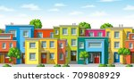 illustration of colorful modern ... | Shutterstock .eps vector #709808929
