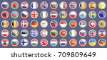 flags of the europe. set of...   Shutterstock .eps vector #709809649