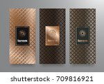 vector set packaging templates... | Shutterstock .eps vector #709816921