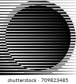 circle logo with lines.unusual... | Shutterstock .eps vector #709823485